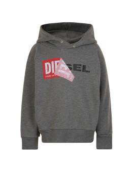Diesel Salby Peel Hooded Logo Sweatshirt