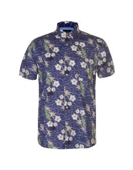 Pierre Cardin Tropical Short Sleeve Shirt Mens