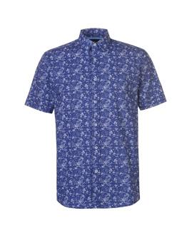 Pierre Cardin Ditsy Short Sleeve Shirt Mens