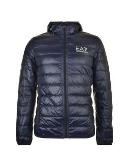 EA7 Bubble Hooded Logo Coat